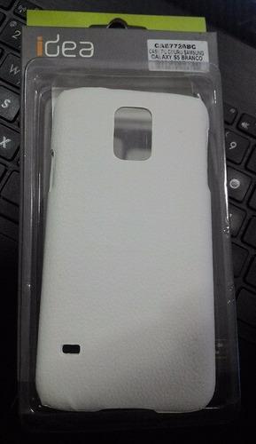 Case Couro Samsung Galaxy S5 Branco