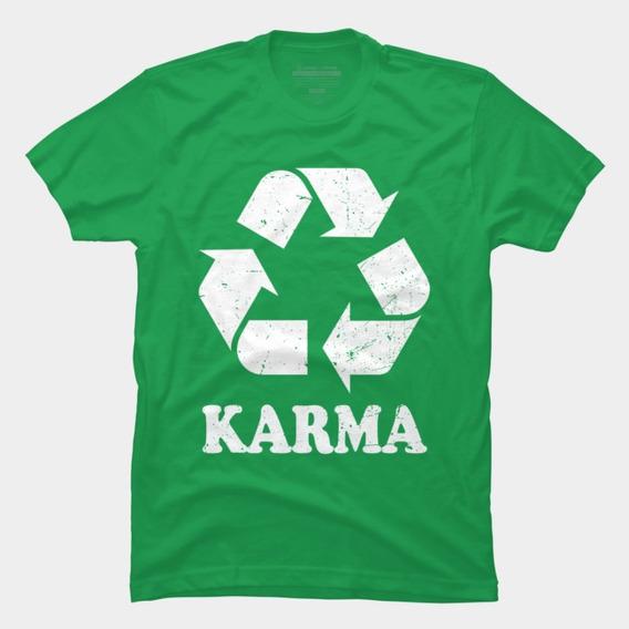 Playera Camiseta Energia Karma Espíritu De Justicia Hinduismo, El Budismo