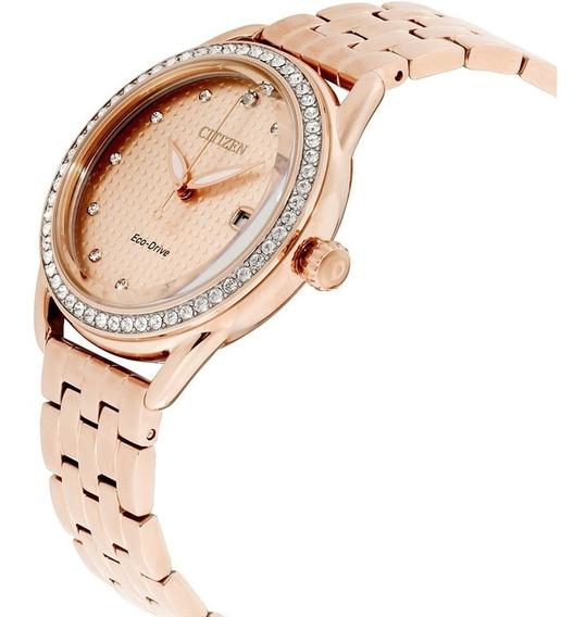 Reloj Dama Citizen Fe6113-57x Ecodrive Acero Con Cristales