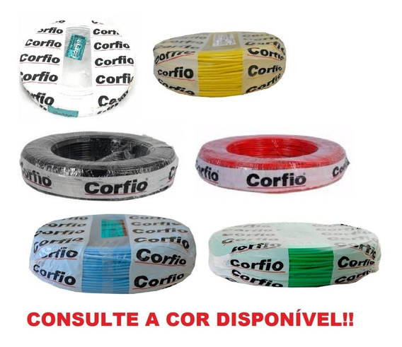 Fio Cabo Flexível 750v 1,5mm Corfio T/cores Rolo 100 Metros