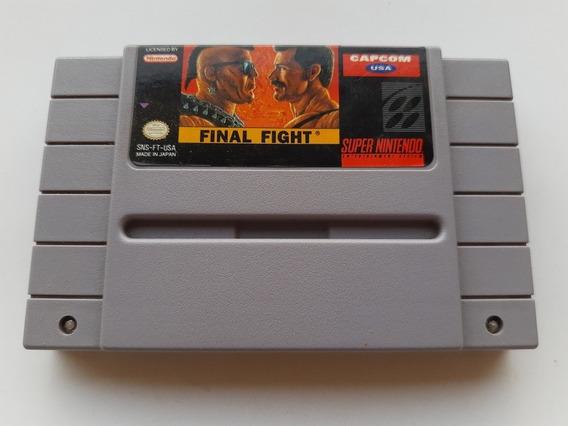 Super Nes: Final Fight Original Americano! Salvando! Jogão!