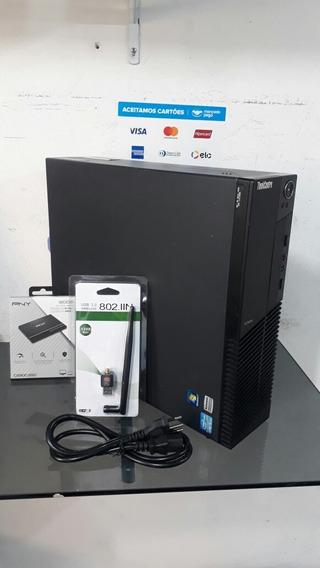 Pc Lenovo Thinkcentre M91p Corei5 4gb Ram Ssd 120gb Hd 320gb