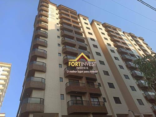 Apartamento Com 2 Dormitórios À Venda, 83 M² Por R$ 290.000,00 - Caiçara - Praia Grande/sp - Ap1855