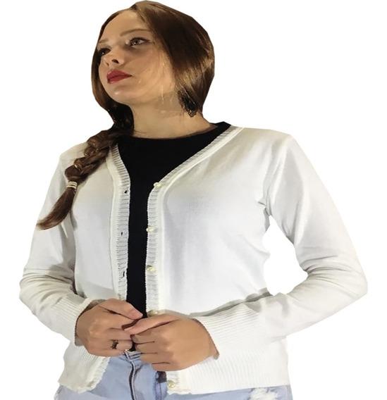 Casaquinho Feminino Croche Blusa Fashion Roupas Esporte Fino