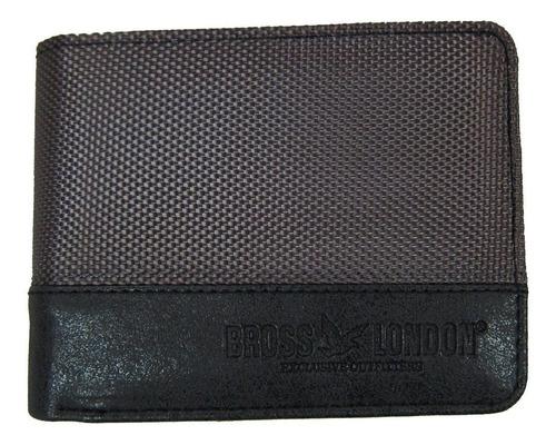 Billetera Bross Brs-6020 Hombre Cuero Pu+textil