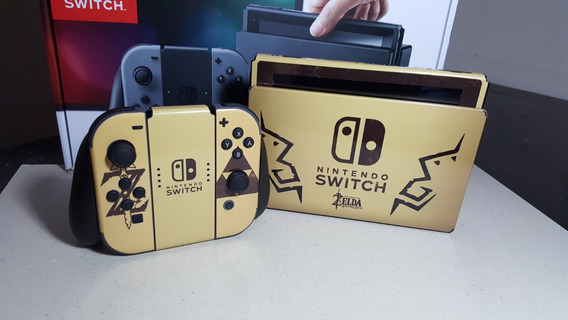 Skin Nintendo Switch Zelda Gold Sublimeskins