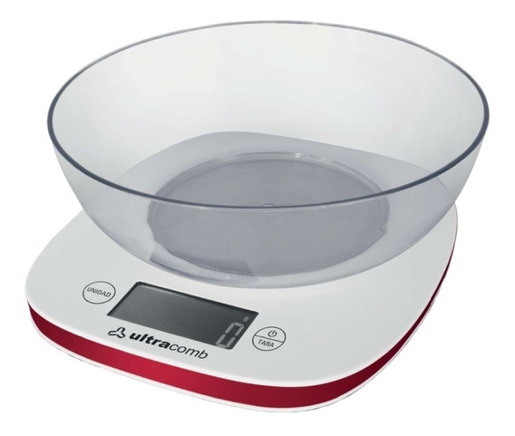 Balanza De Cocina Digital Ultracomb Bl6002 Hasta 3 Kg Bowl