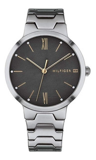 Tommy Hilfiger - 1781958 Grey Stainless Steel Para Mujer