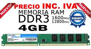 Memoria Ram Ddr3 4gb Pc 1600mhz Nuevas Incluye Iva