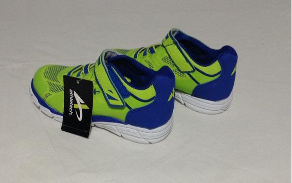 17 Zapatos Deportivo Niño Marca Athletech Verde N° 10 Import