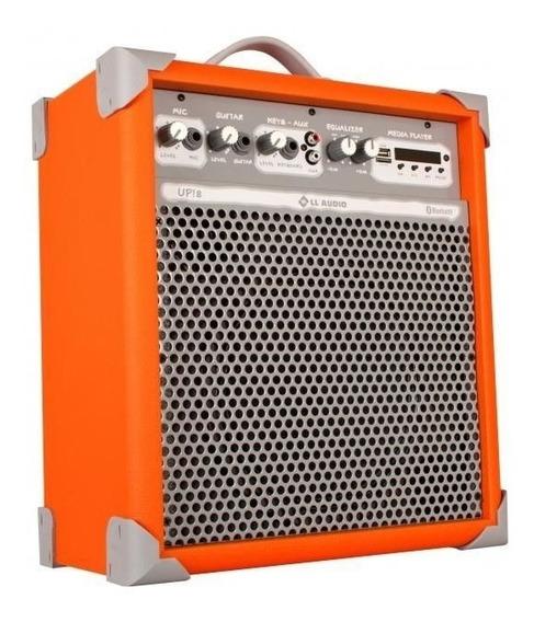 Caixa De Som Amplificada Multiuso Up!8 Orange Fm/bluetooth
