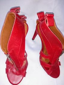 Sandalia Salto Alto Vermelha Número 36