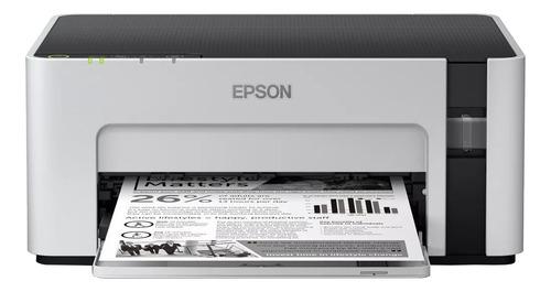 Imagen 1 de 3 de Impresora simple función Epson EcoTank M1120 con wifi blanca y negra 220V