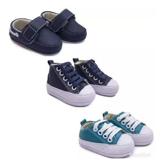 Kit 3 Sapato Tênis Masculino Bebê Kids Infantil De Menino