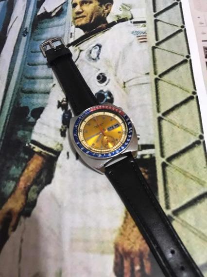 Relógio Raro Seiko Pogue Nasa Pepsi 6139 Amarelo Cronógrafo