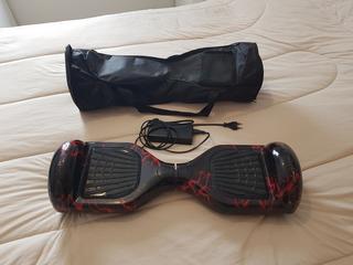 Hoverboard Preto E Vermelho 6,5 Bluetooth