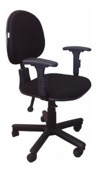 Cadeira Ergonômica Nr 17 Back System Com Braços Preta Tsmob