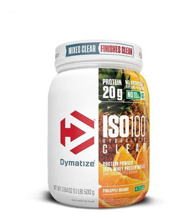 Iso 100 - 100% Hydrolyzed Clear (1.1lb/500g) Dymatize