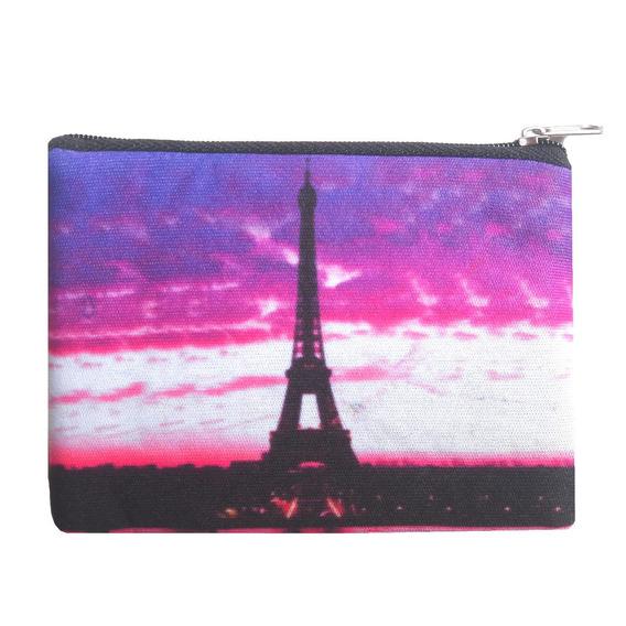 Monedero De Neoprene Estampado Torre Eiffel