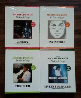 Michael Jackson, Colección 10 Uds, Cd`s + Dvd + Libros