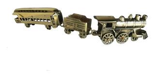 Trem Locomotiva Maria Fumaça Bronze Coleções Miniatura Minas