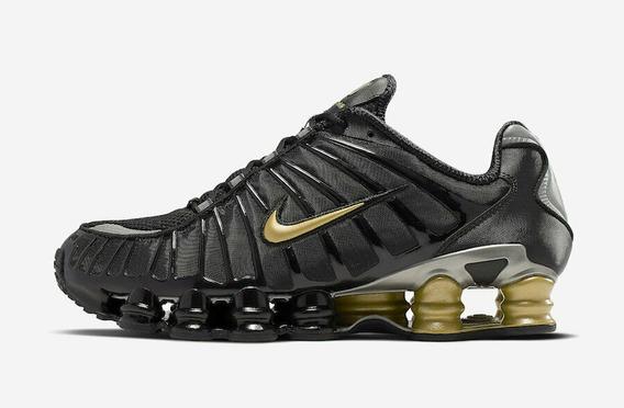 Tênis Nike Shox Tl Neymar Jr Black Gold Bv1388-001