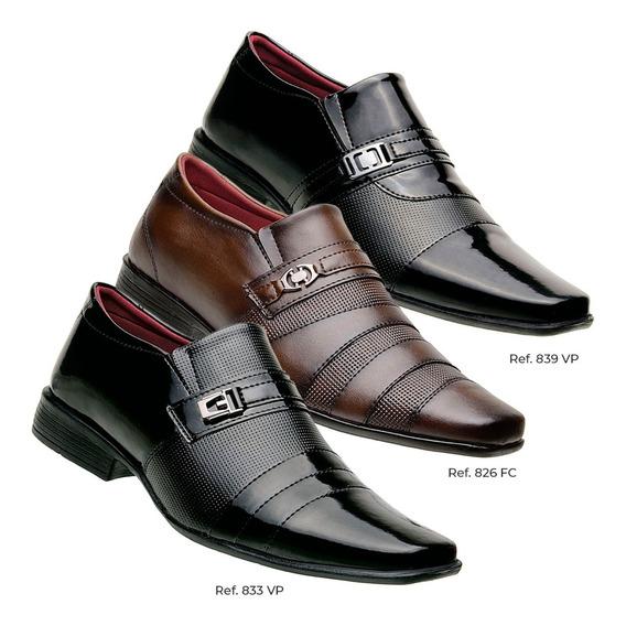 Sapato Masculino Executivo Oxford Kit Com 3 Pares