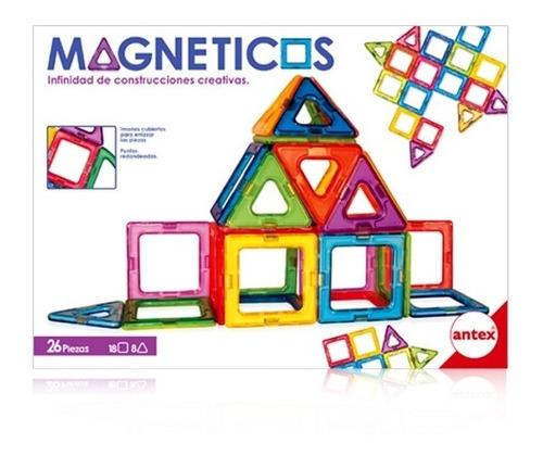 Juego De Construcción Magnéticos 26 Pz Con Imanes Antex 1261