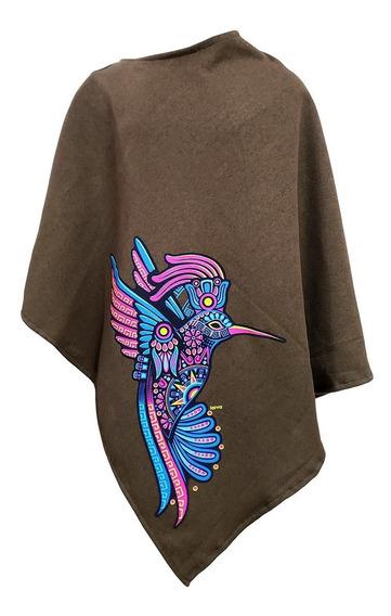 Poncho Larva Para Niña Colibrí Azteca Espiritual Rave