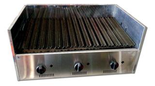 Parrilla Industrial De Mesada A Gas 80cm - Gastroequip