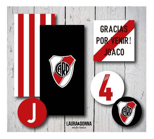 Kit Imprimible River Plate Candy Bar Deco Futbol Varon