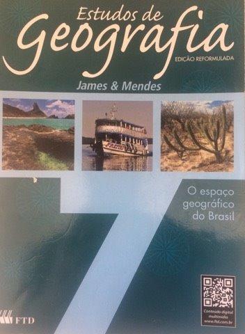Livro Estudos De Geografia. James & Mendes 7 Ftd Usado