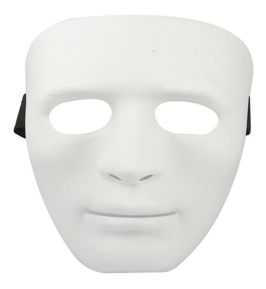 Máscara Rígida Pvc Halloween Carnaval Jabbawoockeez Colores