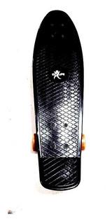 Skate Penny Board 2 Mini Long Rosa Negro 27 Pulgadas 90 Kg