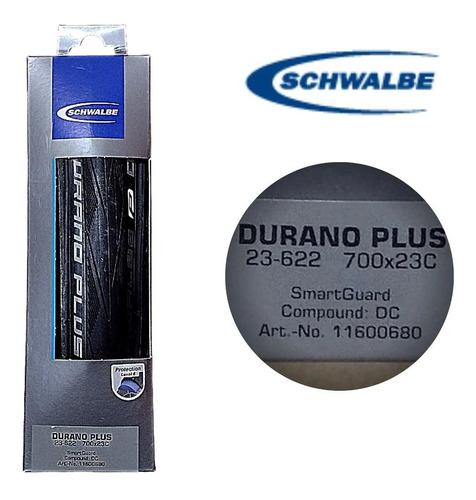 Imagem 1 de 2 de Pneu Schwalbe Durano Plus S-guard 700x23 Dobravel Pto