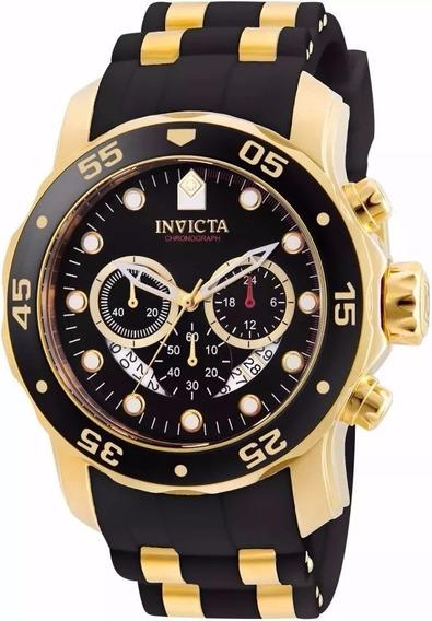 Relógio Invicta Pro Diver 6981 Masculino Ouro 18k + Big Box