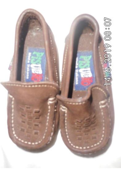 Zapatos Tipo Mocasin De Bebe Marca Pisulino