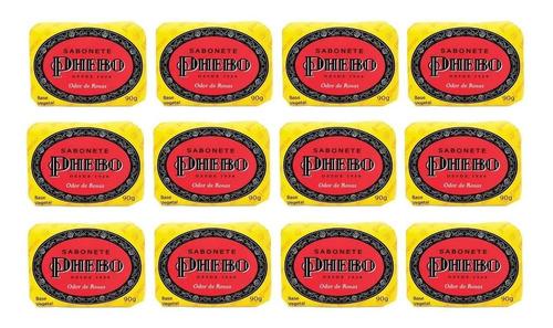 12 Unidades -- Sabonete Phebo Odor De Rosas 90g