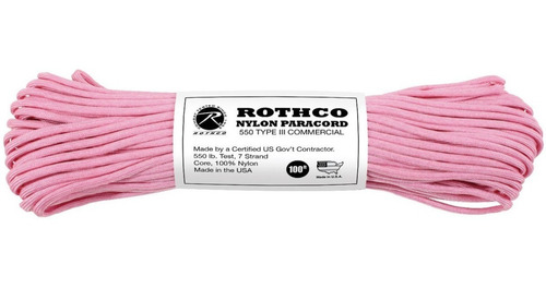 Paracord Cuerda Rothco 550 Tipo 3 - 40 Colores Made In Usa