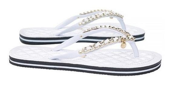 Chinelo Santa Lolla Flip Flop Envernizado Branco 0106.0d67