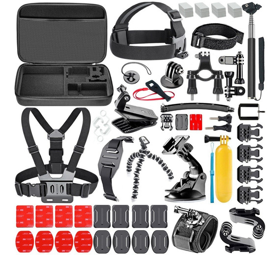 Kit Accesorios Gopro For Hero 2 3 4 5 6 7 Mas De 70 Piezas