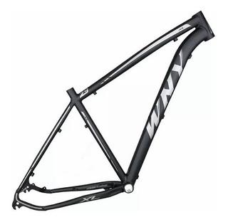 Quadro De Bicicleta Para Mountain Bike Preto Fosco Tam 17