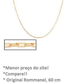 Cordão Masculino Rommanel Cartier Folheado A Ouro. Med 60cm