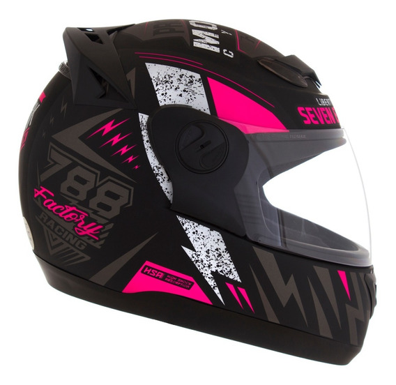 Capacete Pro Tork Feminino Evolution G6 Factory Racing Rosa