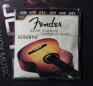 Juego Fender Cuerdas Nylon De Guitarra Acústica Clásica.