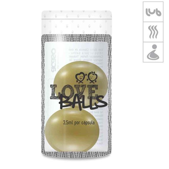 Bolinha Aromatizada Love Balls 2un - Dourado