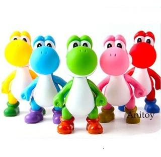 Figuras Yoshi De Colores Super Mario Bros 13cm C/u