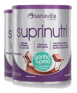 Kit C/ 2 Suprinutri Sanavita Chocolate - Ganho De Peso 400g