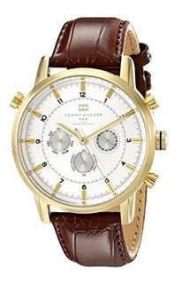 Reloj Tommy Hilfiger 1790874 Para Hombre En Tono Dorado Con