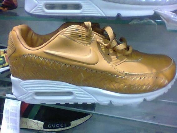 Tenis Nike Air Max 90 Caramelo E Branco Nº38 Ao 43 Original
